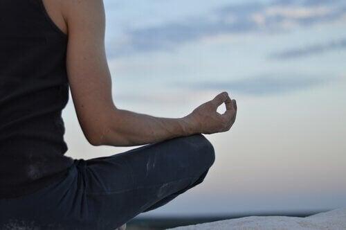 Meditar em um momento de lazer