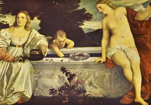Um dos quadros de Ticiano