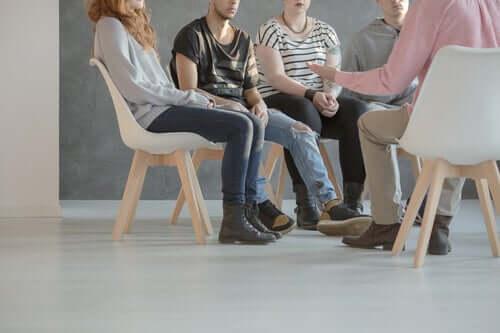 Sessão de terapia em grupo