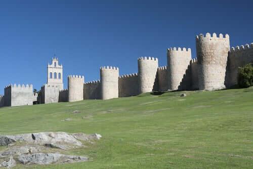 Muralhas de castelo espanhol
