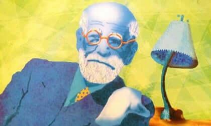 Ilustração de Sigmund Freud