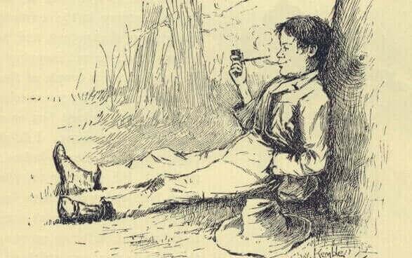 Ilustração de Hucleberry Finn