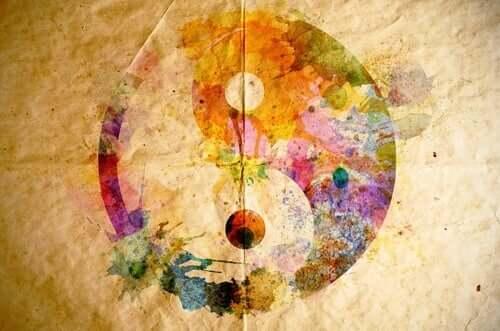 Pintura Yin e Yang