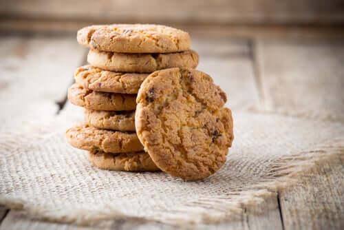 Biscoitos recém assados