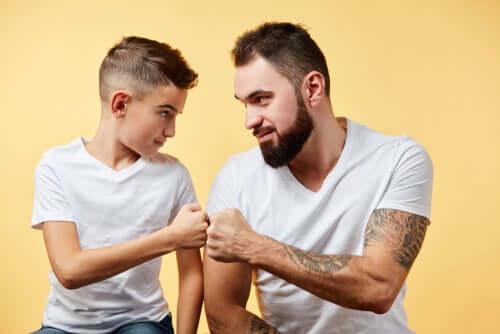 Pai e filho unidos
