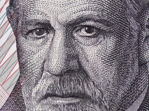 Rosto de Sigmund Freud