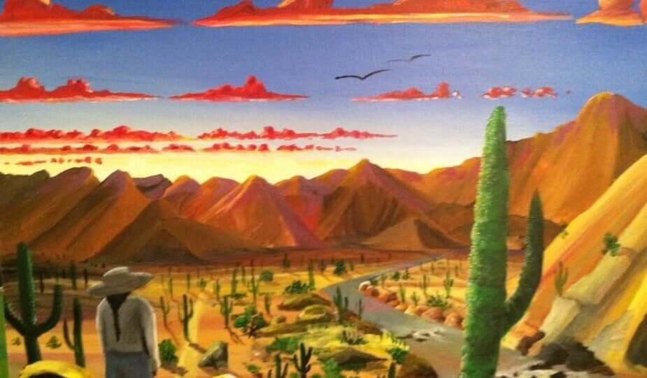 Ilustração de região árida