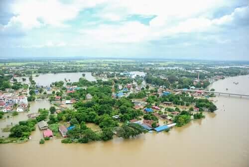 Cidade inundada