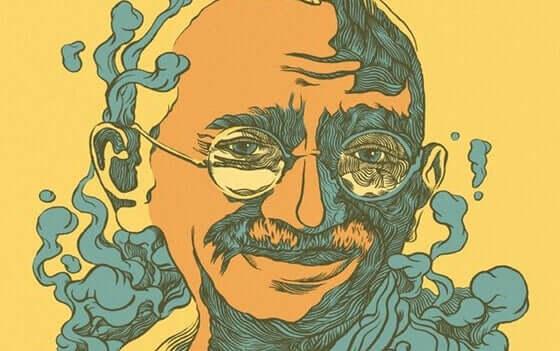 Ilustração de Gandhi