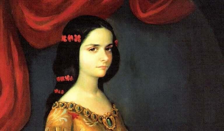 Sóror Juana quando jovem