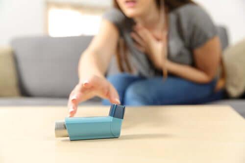 Mulher com asma