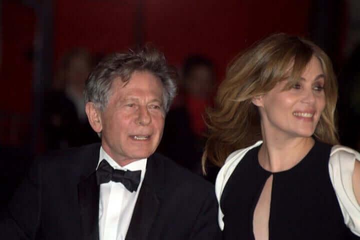 Roman Polanski com sua esposa