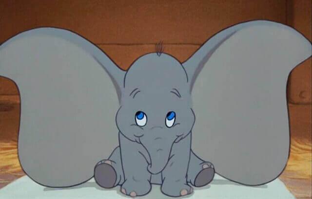 Desenho do Dumbo, da Disney