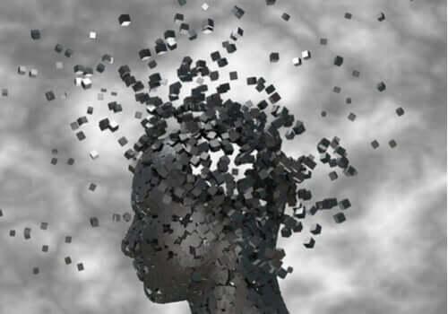 Cérebro se desintegrando