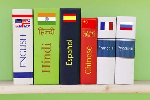Dicionários de várias línguas