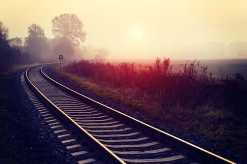 Nos trilhos do trem