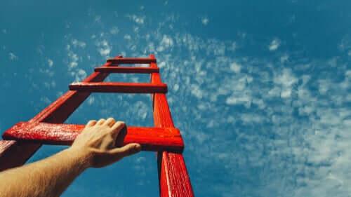 Subir a escada rumo aos seus sonhos