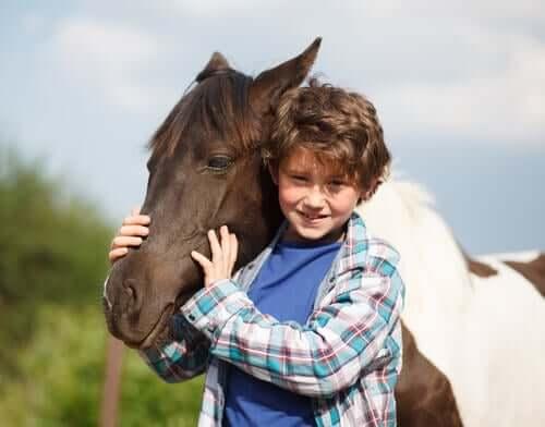 Menino com cavalo