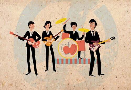 Desenho dos Beatles