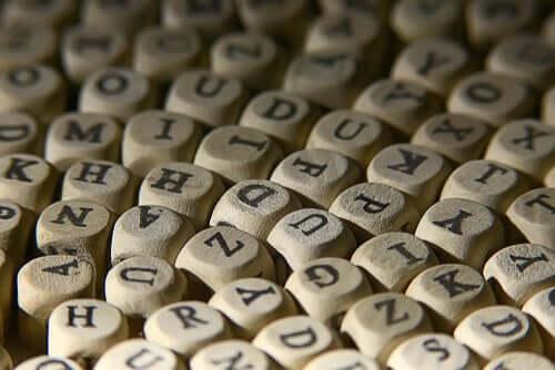 As letras do alfabeto