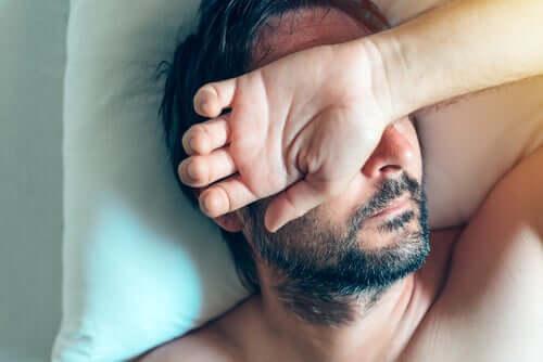 Homem que não quer acordar