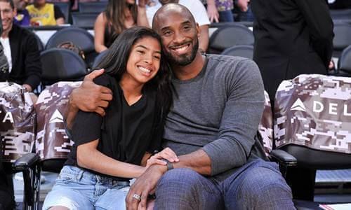 Kobe Bryant com sua filha