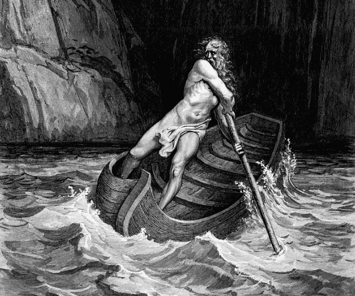 O mito de Caronte, barqueiro do submundo