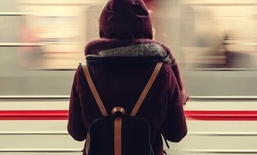 Mulher no metrô