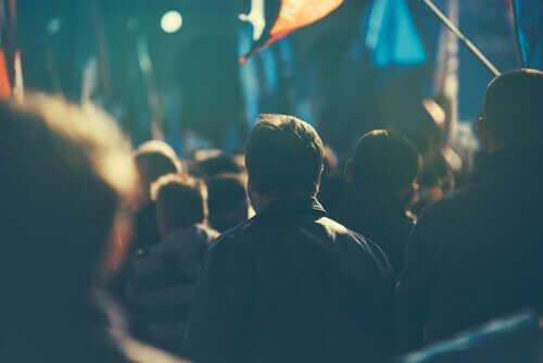 Pessoas em manifestação