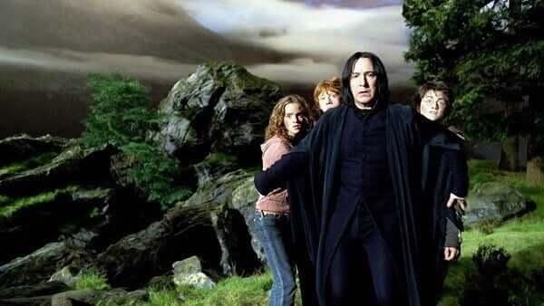 Severo Snape com Harry, Rony e Hermione