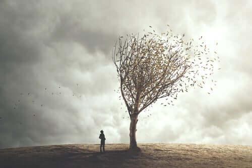 Árvore representando medos