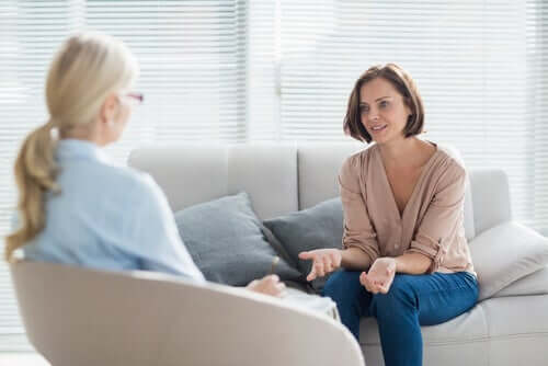 Mulher em sessão de terapia