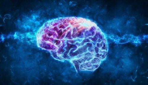 Ondas em cérebro iluminado