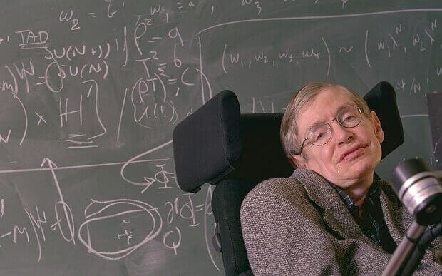 Stephen Hawking dando aula