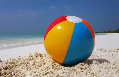 A metáfora da bola na praia para regular emoções