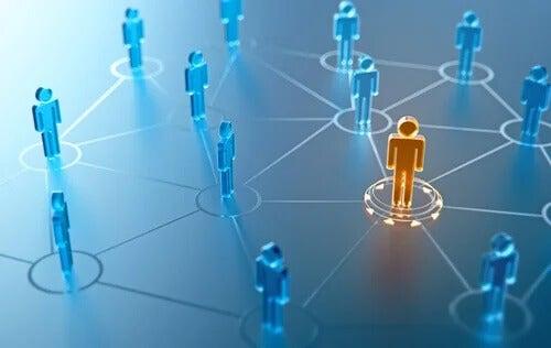 Rede de pessoas interligadas