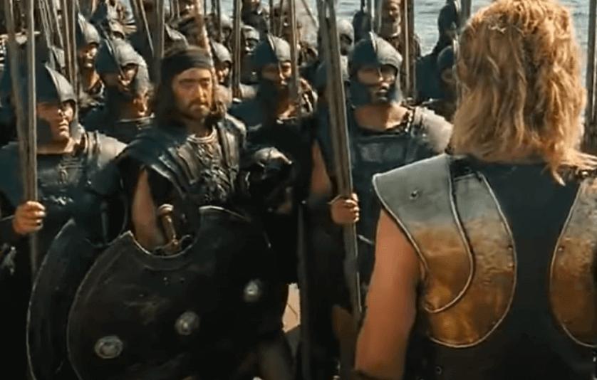 Aquiles liderando exército