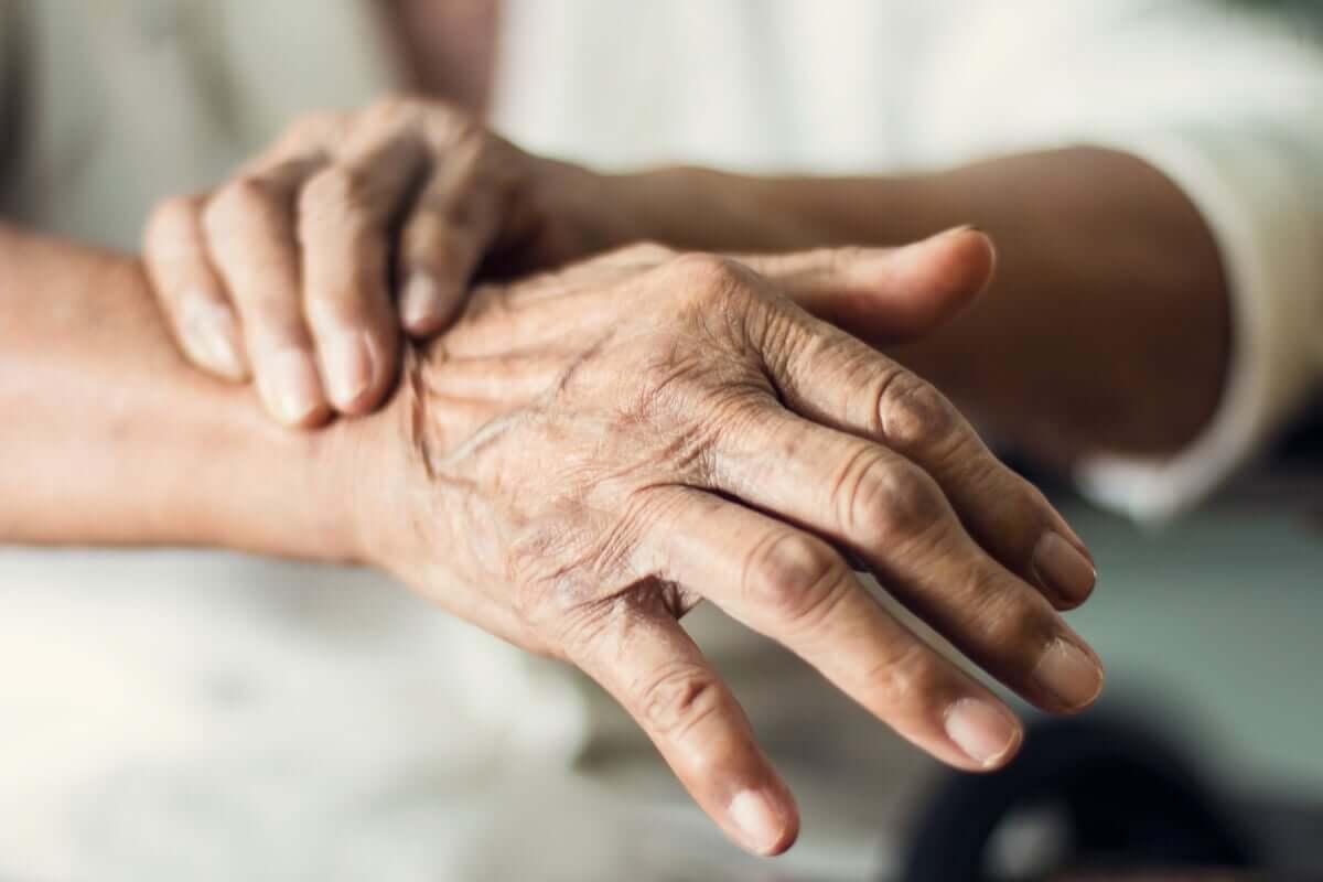 Pessoa com doença de Parkinson