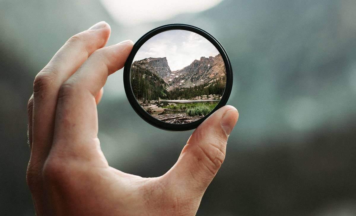 Paisagem em espelho pequeno