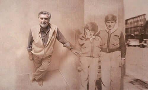 Aronson com sua família