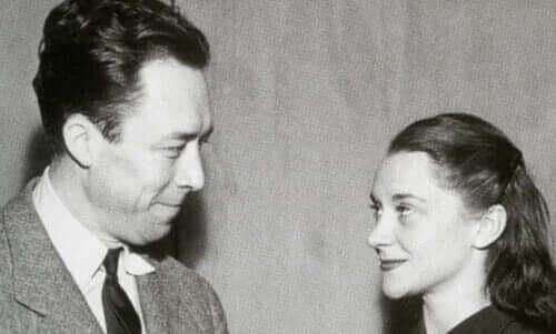 Camus e sua esposa