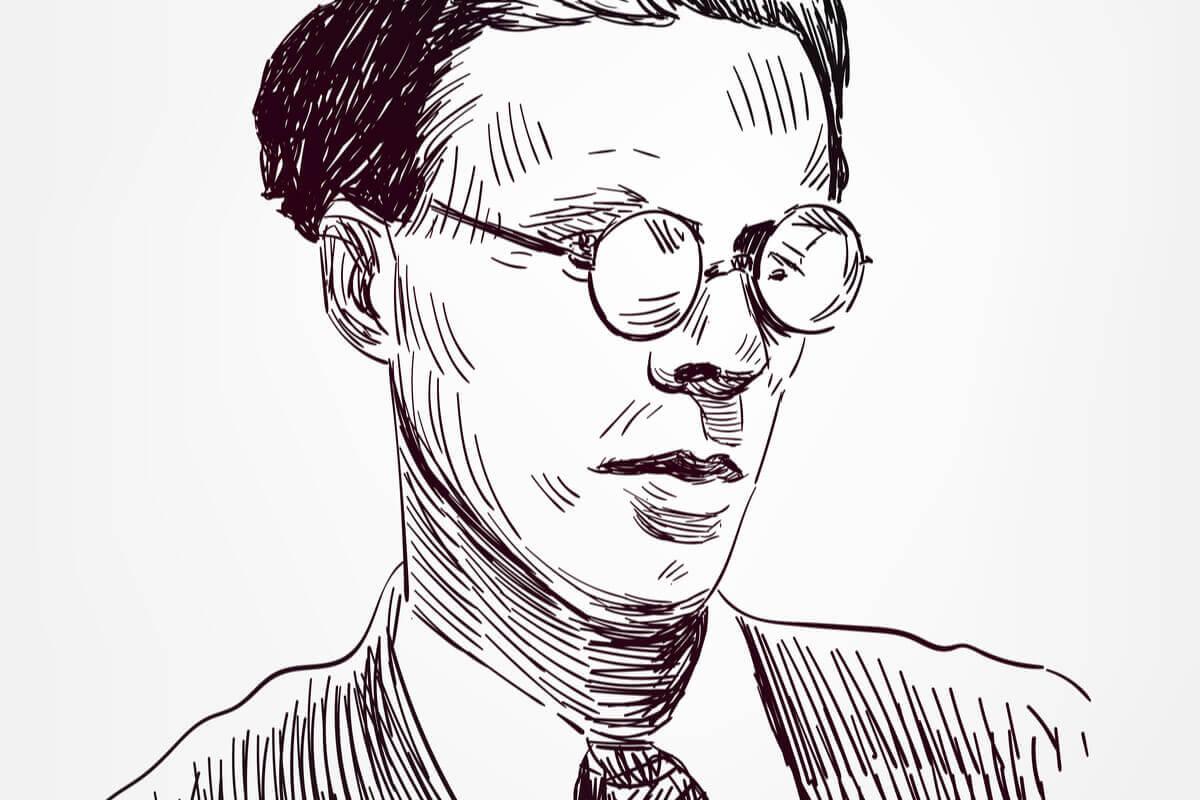 Caricatura de Aldous Huxley