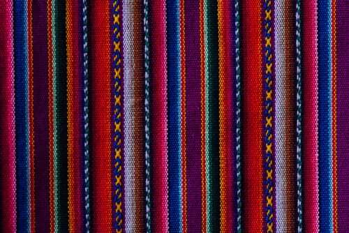 Tecido colorido