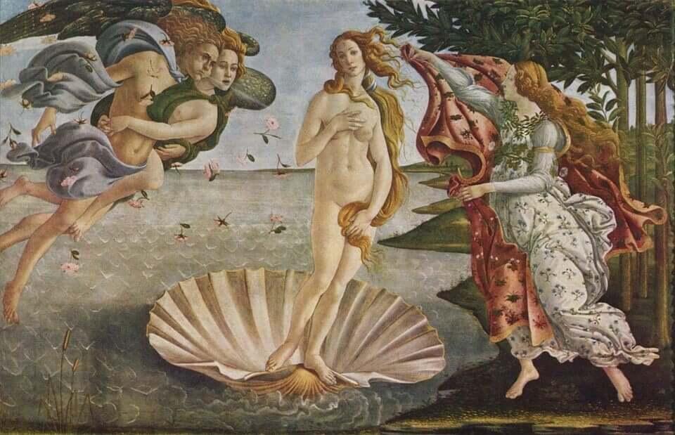 O Nascimento de Vênus por Sandro Botticelli