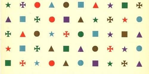 Símbolos do teste de Stroop